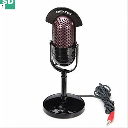 CHENYUN CY-509 Retro Style 4.5v 3.5mm 2.2k Impedance ABS Standing Microphone by GokuStore