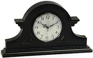 "Mantel Clock I, 8""H x 15""W, BLACK"