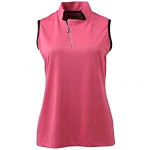 Sport Haley Ladies Contrast Sleeveless Polo Shirt by Sport Haley