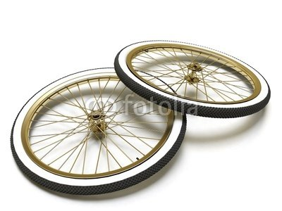 "Wallmonkeys Peel and Stick Wall Decals - Bicycle Vintage Wheel, White Wall, Isolated on White - 24""W x 18""H Removable Graphic"
