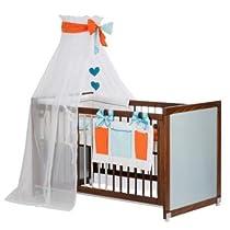 Hot Sale Gesslein Baby, Kinderbett,Dekor Buchenachbildung/silber. My GN (orange)