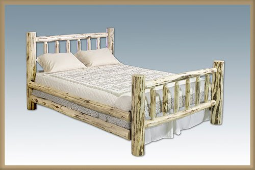 Log Furniture - California King Bed - Unfinished