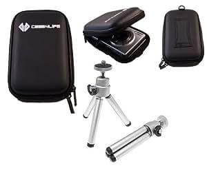 Case4Life Appareil photo numerique Kit de demarrage - cas et mini trepied pour Canon Ixus 1000 HS, 105, 107, 110 IS, 100 HS, 115 HS, 117HS, 125 HS, 130, 200 IS, 210, 220 HS, 230 HS, 240 HS, 300 HS, 310 HS, 500 HS, 510 HS Ð garantie ˆ vie