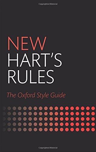 new-harts-rules-the-oxford-style-guide