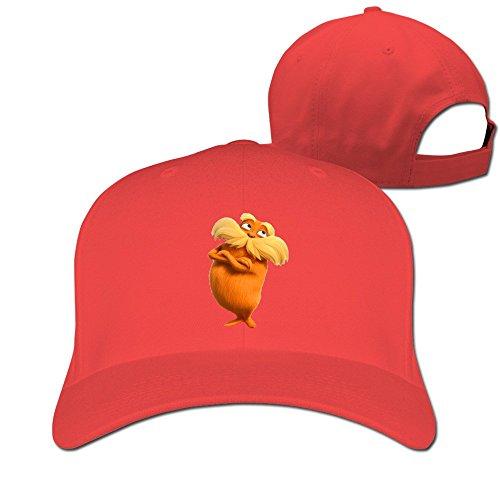 thna-dr-seuss-the-lorax-logo-reglable-fashion-casquette-de-baseball-rouge-taille-unique