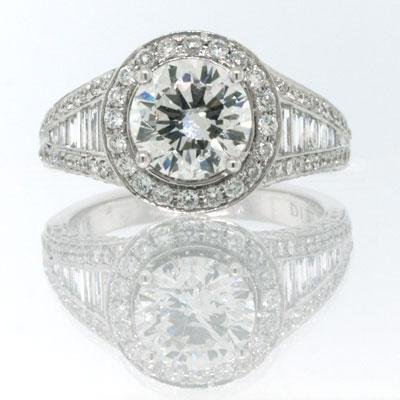 2.91ct Round Brilliant Cut Diamond Engagement