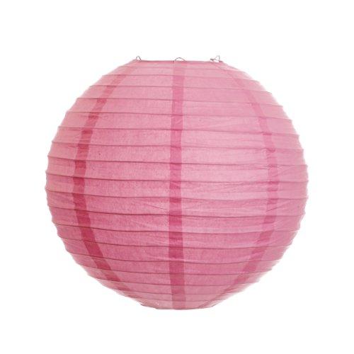 Koyal 18-Inch Paper Lantern, Petal Pink, Set of 6