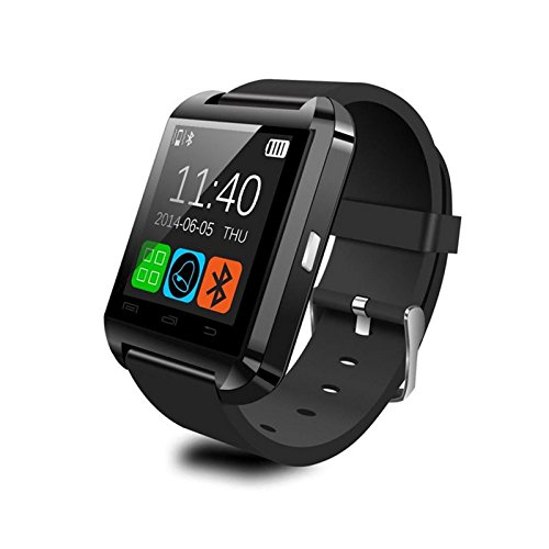 Sunsbell®Pebble Smartwatch Bluetooth 3.0 U8 Watch U Smartwatch Wrist Watch For Iphone 4 4S 5 5S Sumsung S4 Note 2 Note 3 Htc Android Phone Smartphones (Black)