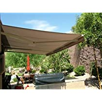 Sand Colored,ALEKO® 13 by 10 Feet Retractable Awning