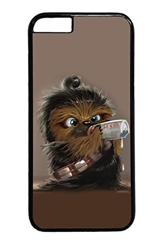iPhone 6 Case - Slim Fit Protective Black Hard Back Case for iPhone 6 Star Wars Chewbacca Drink Baby Scratch-Resistant Hard Case Cover for iPhone 6 4.7 Inches