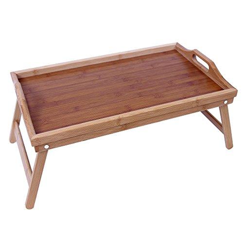 Songmics Bamboo Bed Tray Folding Breakfast TV Laptop Tray Table Hospital Serving Tray w
