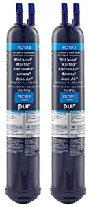 Whirlpool 4396841P PUR Push Button Side-by-Side Refrigerator Water Filter, 2-Pack