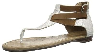 Emu Australia Womens Burnberry Zip Thong Sandals W10855 Silver 3 UK, 36 EU, 5 US, Regular