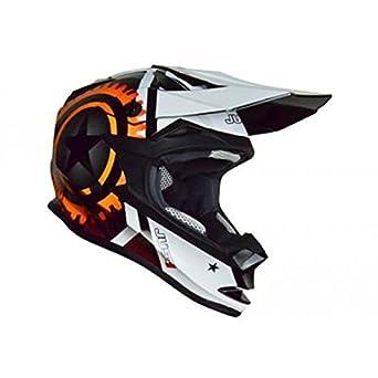 Casque just1 j32 motostar agent orange orange xl - Just1 JU002126