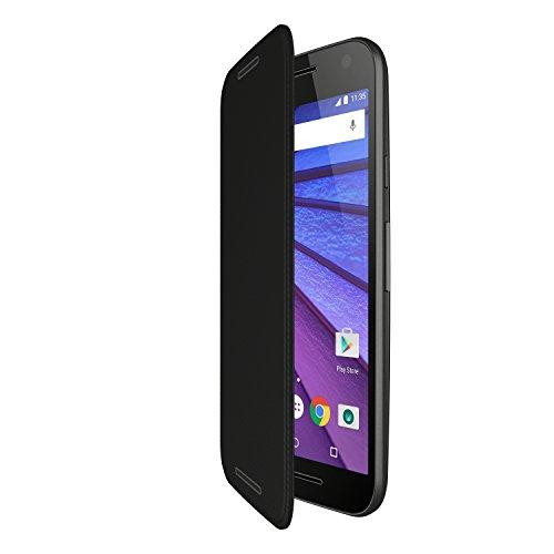 Motorola Flip Cover per Motorola Moto G 3 Generazione, Nero
