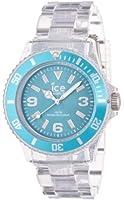 ICE-Watch - Montre Mixte - Quartz Analogique - Ice-Pure - Turquoise - Unisex - Cadran Turquoise - Bracelet Plastique Transparent - PU.TE.U.P.12