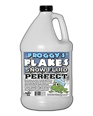 Froggys Snow Juice - 1 Gallon Evaporative Fluid for Artificial Snow Flake Machines by Froggys Fog