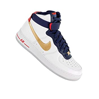 online store 7c372 9ab1d Nike Air Force 1 HI 07 Premium USA Basketball Olympic Mens Shoes AF1 525317- 100