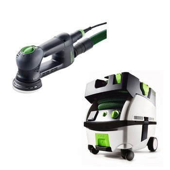 Festool Pn571823 Rotex Ro 90 Dx 3-1/2 In. Multi-Mode Sander With Ct Mini Hepa 2.6 Gallon Mobile Dust Extractor front-517832