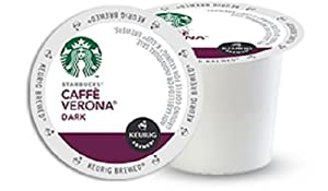 Starbucks Caffe Verona, Dark, K-Cup Portion Pack for Keurig K-Cup Brewers, 96 Count