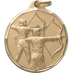 1 1/4 Inch Gold Archery Medal