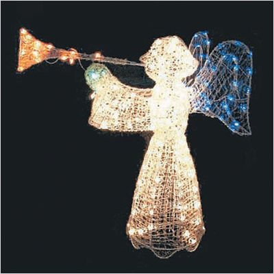 Lighted Outdoor Christmas Angel 200 Lights Crystal