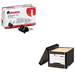 KITFEL0072506UNV10200 - Value Kit - Bankers Box R-Kive Max Storage Box (FEL0072506) and Universal Small Binder Clips (UNV10200)
