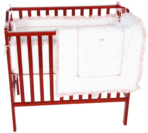 Baby Doll Unique Port-a-Crib Bedding Set, Pink