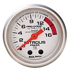 Auto Meter 4328 Ultra-Lite Mechanical Nitrous Pressure Gauge