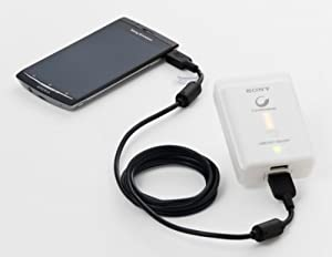 SONY スマートフォン用USB出力(2口)機能付 ポータブル電源(高容量リチウムイオン) CP-A2LS