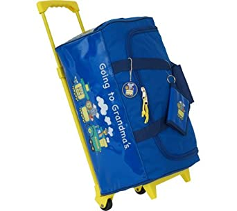 Going to Grandma's Children's Wheeled Duffel Bag Color: Blue