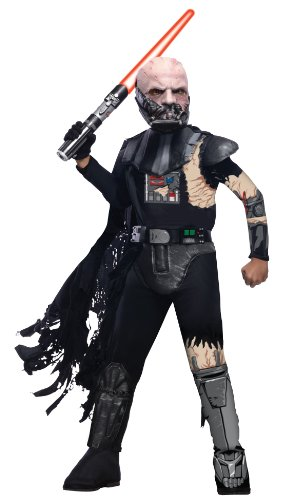 Star Wars Child's Deluxe Darth Vader with Battle Damage Costume, Large