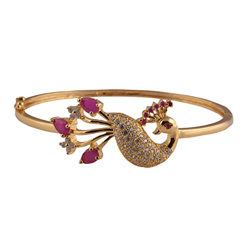 Ganapathy Gems 1 Gram Gold Plated Bracellet With Cz Stones (8353)