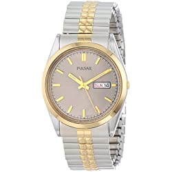 Pulsar PXF110 Two Tone Stainless Steel Men's Watch