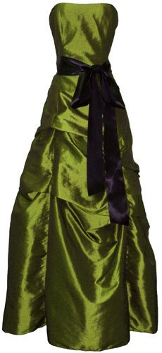 Bridesmaid Prom Holiday Formal Long Dress Junior Plus Size, Xl, Olive-Green front-682595