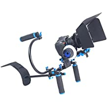 YELANGU YLG0102D Dual Handles Camera Shoulder Mount Kit With Matte Box For DSLR Camera / Video Camera