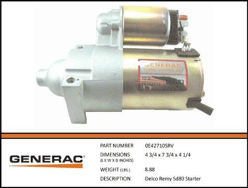 0e42710srv Generac Delco Remy Sd80 Starter   Parts