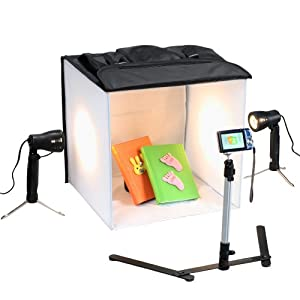Square Perfect 3085 SP200 Professional Quality 16-Inch Studio In A Box Light Tent Cube for Quality Photography
