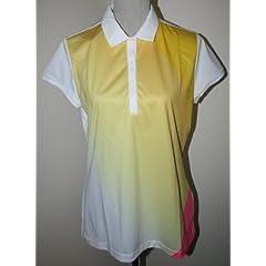 NIKE GOLF Ladies Dri-FIT SS POLO SHIRT New, Yellow White & Pink, NWT, Tennis by Nike Golf