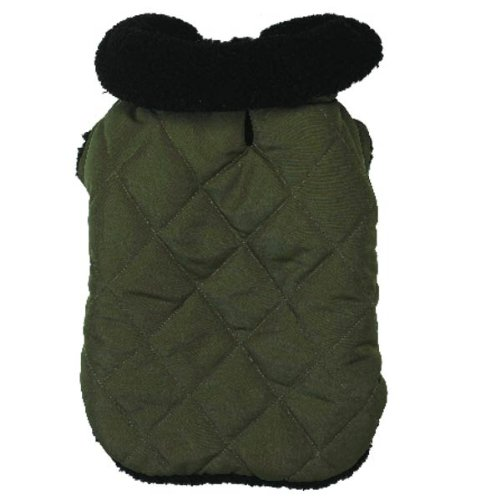 Zack & Zoey Polyester Thermal Lined Dog Jacket, Medium, Chive