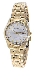 Seiko Damen-Armbanduhr XS Analog Quarz Edelstahl SXDE72