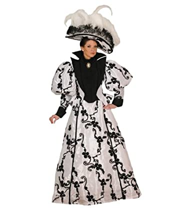 Women's Lacey Victorian Theater Costume Dress, White, Large