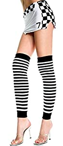 Over the Knee Striped Leg Warmers