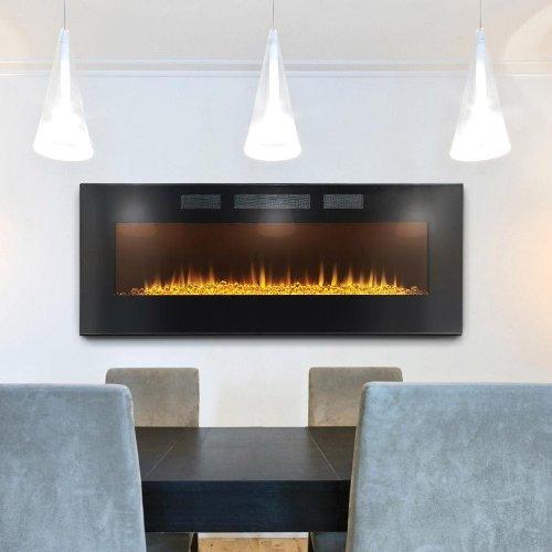 New Napoleon EFL50H Linear Wall Mount Electric Fireplace, 50-Inch