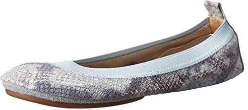 Yosi Samra Samara Dusty Metallic Snake Flat Women's Flat Shoes 11 M