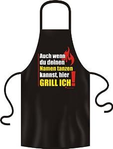 No-Compromise Grillschürze Schürze Latzschürze Bistroschürze Küchenschürze Kochschürze (Auch wenn Namen Tanzen)