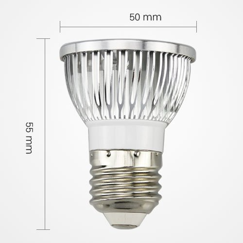 Led E27 Energy Saving Spotlight Lamp Bulb 4W 4X1W Ac 110V Cool White Equivalent To 50W Traditional Bulb