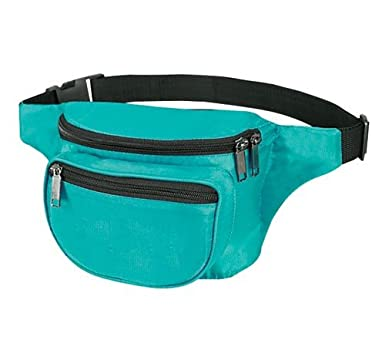 Yens� Fantasybag 3-Zipper Fanny Pack-Teal, FN-03