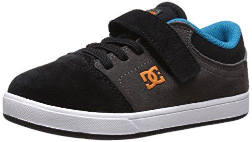 DC Crisis Youth Shoes Skate Shoe (Toddler/Little Kid/Big Kid), Armor/White/Orange, 10 M US Toddler