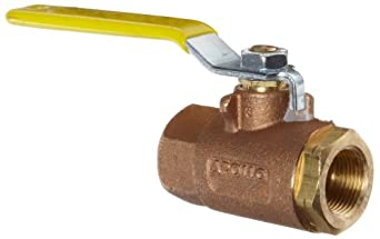 Apollo 70LF-100 Series Bronze Ball Valve, Potable Water Service, Two Piece, Inline, Lever, NPT Female